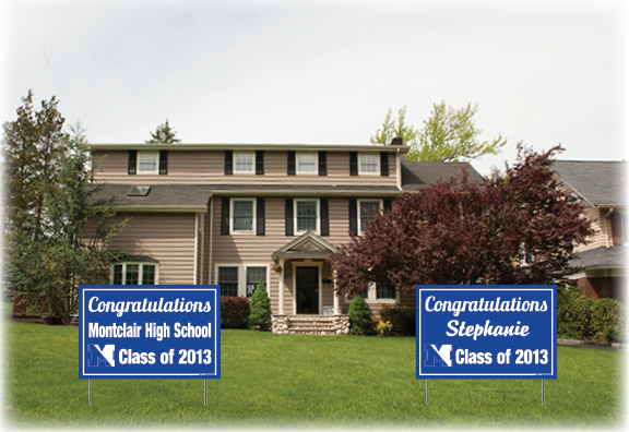 An example of the signs provided by Studio042. Project Graduation is sure on the way.