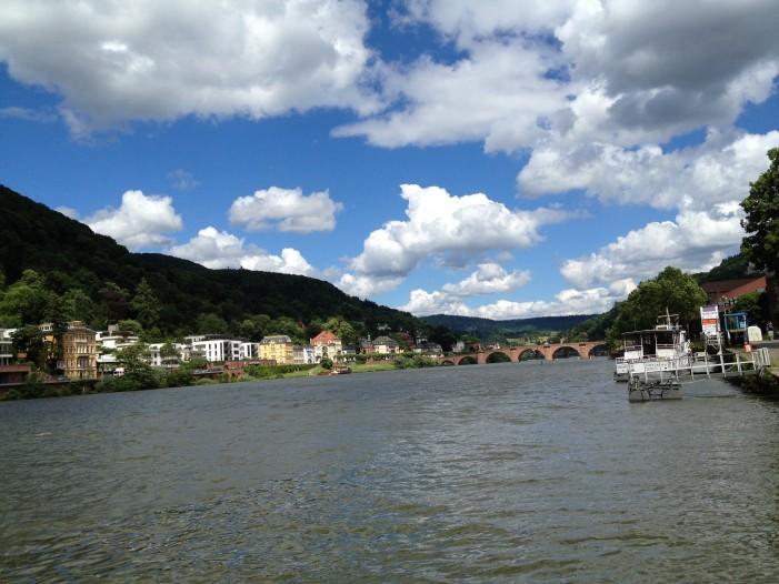 Rhine River, host to the Heidelberg Castle