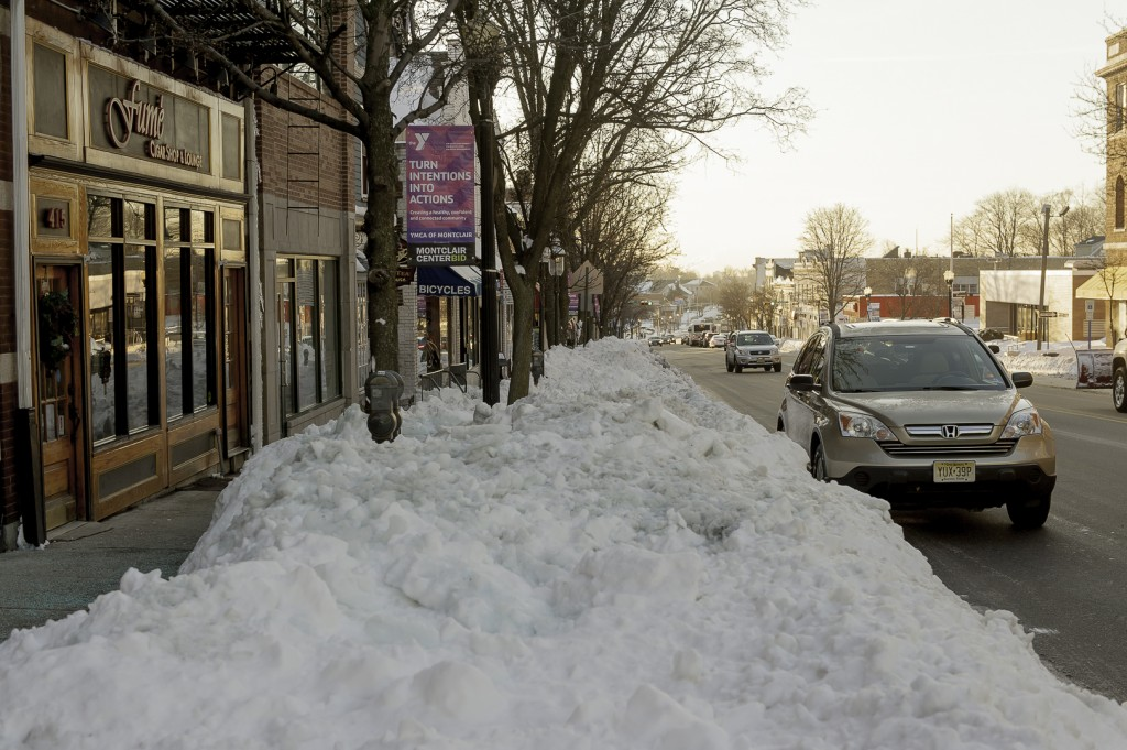 On street parking blocked by Snow, Essex County says job was well done.