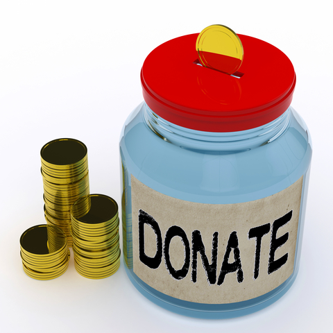 Donate Jar Means Fundraiser Charity And Giving