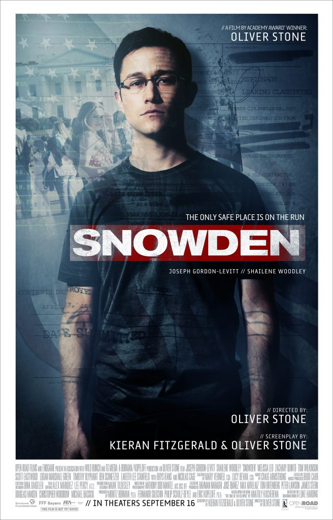 Snowden the movie poster