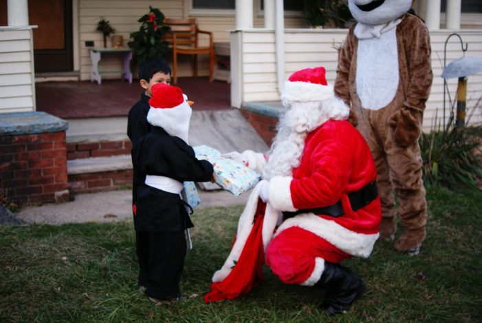 Santa's Sleigh Serves Community