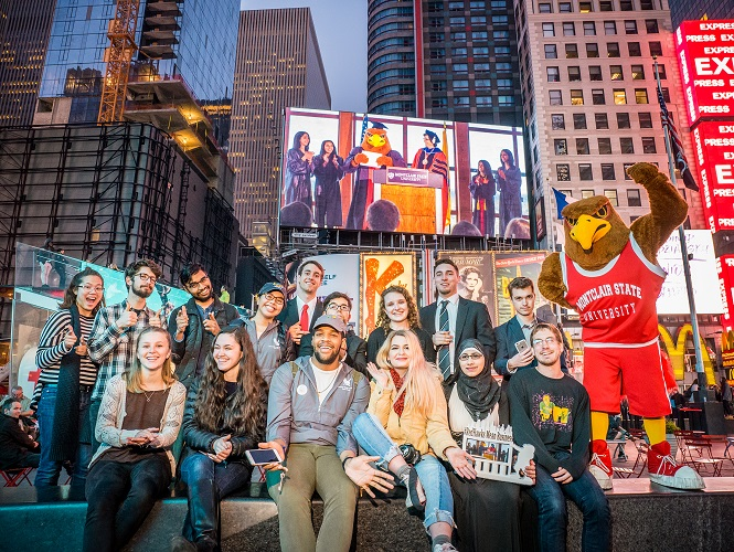 Montclair Red Hawks Take On Times Square Challenge