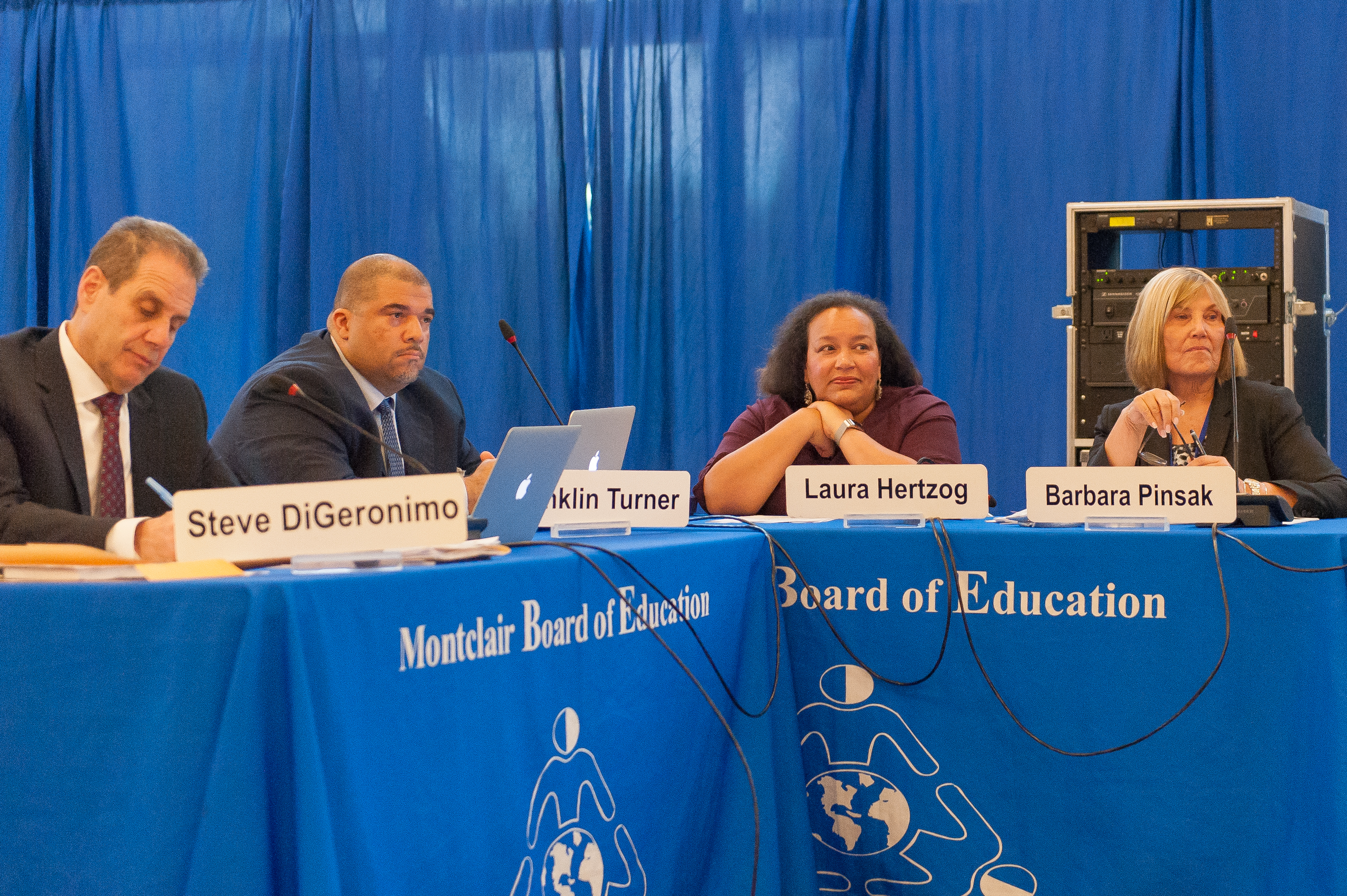 The Montclair Board of Education on Tuesday, May 16, 2017. Photo by Scott Kennedy for The Montclair Dispatch.