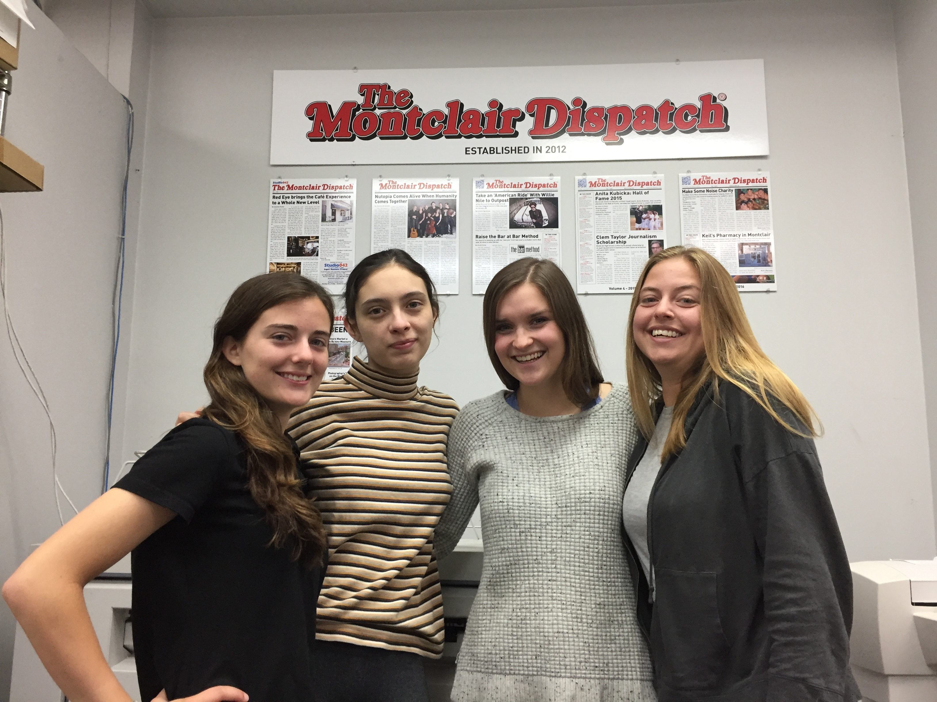 Julianna Wittmann, Cristi Kennedy, Isabelle Siddons, and Samantha Wittmann. Photo by Scott Kennedy for The Montclair Dispatch.