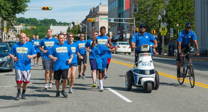 Montclair Police Gather for Annual Torch Run for Special Olympics NJ