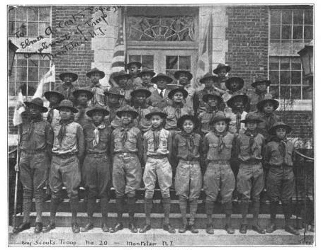 Troop 20 (shown in 1931) was a top competitor at Montclair Scout rallies; its champions went on to many leadership roles, including the Tuskegee Airmen.