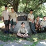 Troop 4's South End Scouts prepare to depart for summer camp, July 2017