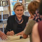 Clinton Signs books for fans in Montclair, NJ 9-26-2017