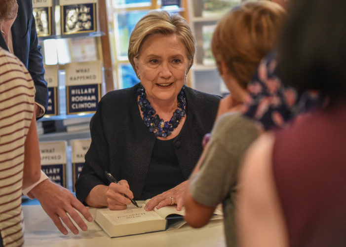 Hillary Clinton stops at Watchung Booksellers to Meet Adoring Fans and Sign Books