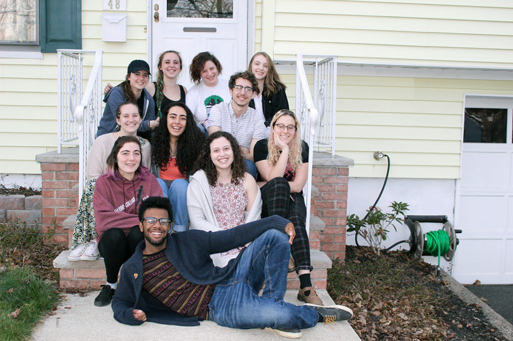Yes! of Montclair members in 2017: L-R: Back Row: Julianna Wittmann, Natalie Smyth, Rebica Klein, Nia Holton-Raphael. Row-3: Rachel Roder, Mya Nee, Sam Friedman. Row-2: Leah Juliette, Rachel Frome, Danielle Sklar. Front Row: Steven Davis. Image Courtesy Yes!