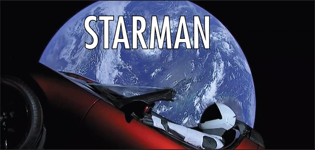 SpaceX's Starman selfie from Low Earth Orbit , Image/SpaceX