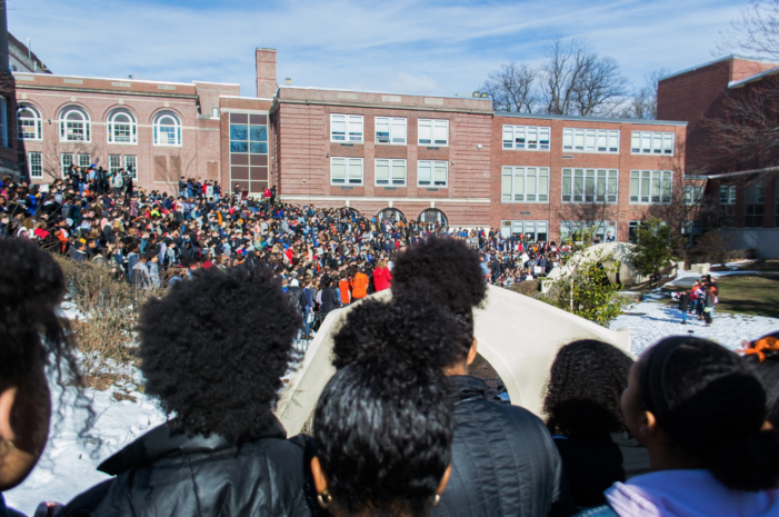 Montclair High School Students Stage A Walkout Against Gun Violence on March 14, 2018