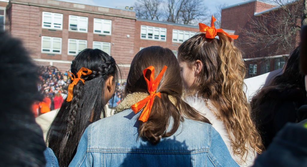Orange ribbons carry the day.