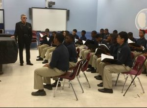 Bobby Valli Rehearsing with the Newark Boys Chorus // Photo Courtesy of Carol Castelluccio