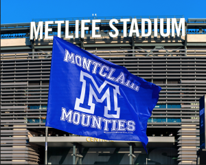 Montclair Mounties Team Flag // Courtesy of Studio042