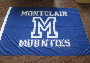 Montclair Mounties Spirit Flag // Photo Courtesy of Studio042