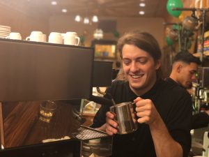 World-class Barista, Zach Inkley, Prepares Drinks for the Big Night // Photo Courtesy to Diana Roberts