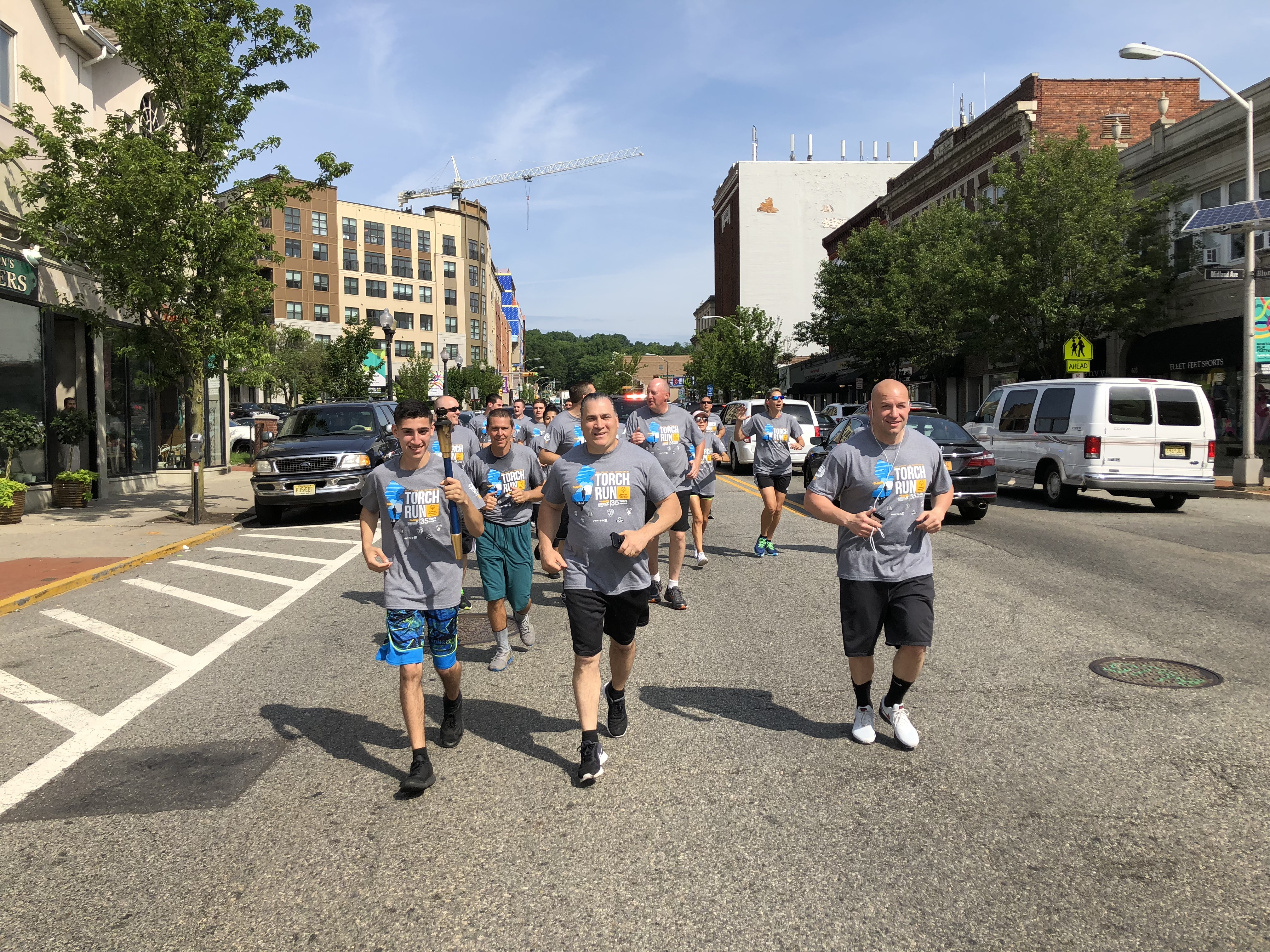 Montclair Chief of Police Todd Conforti Leads the Pack // Photo By Scott Kennedy