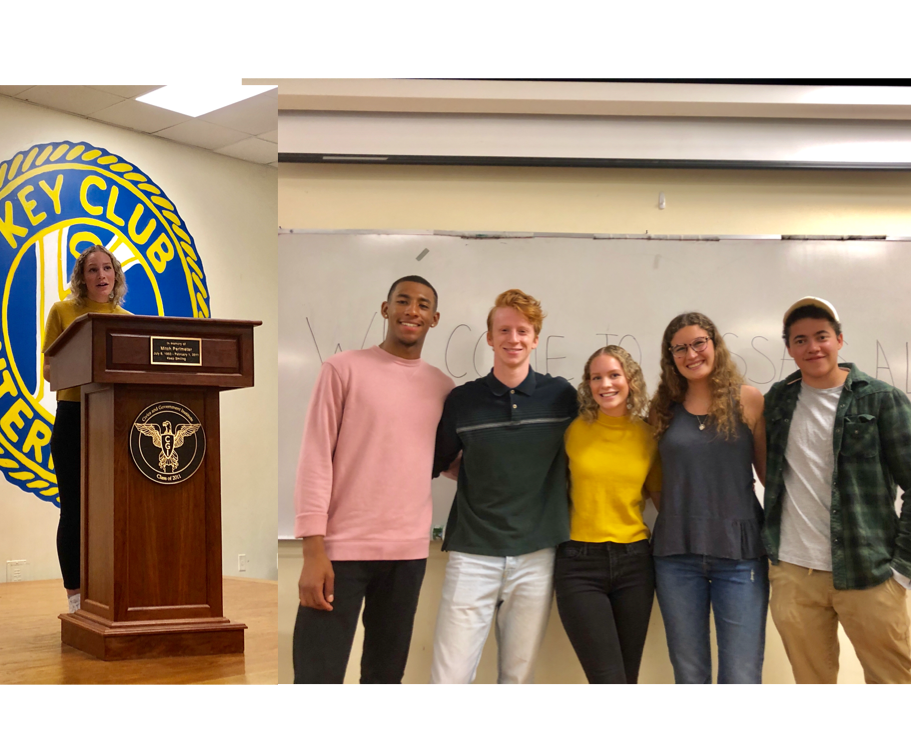 Livi McKenzie (center), Pictured with Her Essays Alive Subjects (l-r), Dany Banks, Valentino Musumeci, Lily Feinberg, and Elliot Porcher // Photo Courtesy of Blake Broder