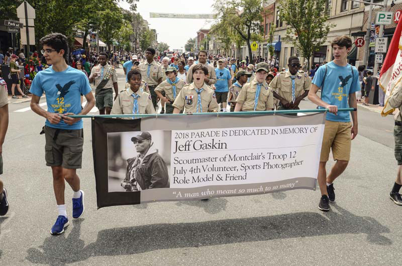 This year's 4th parade was dedicated to Jeff Gaskin// Photo by Raymond Hagans
