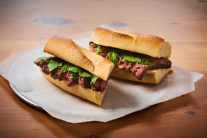 Skirt Steak Sandwich // Photo Courtesy of VioletPR